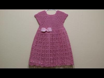 Vestido Rosa Elegante Crochet parte 3 de 3