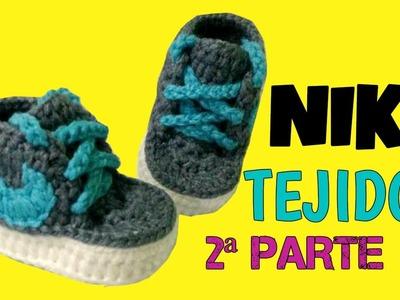 Zapatitos Nike tejido a Crochet talla 3-6 meses | parte 2.2