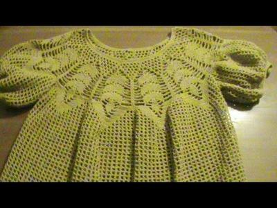 Blusa talla 34-36. Crochet. Parte 1.