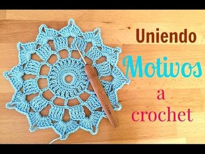 Cómo hacer y unir MOTIVOS redondos al crochet.häkeln.ganchillo.uncinetto