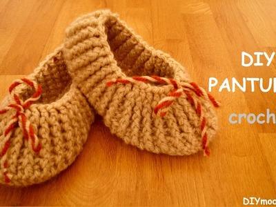 Cómo tejer pantuflas a crochet paso a paso