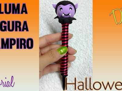 DIY Halloween vampiro pluma decorada porcelana fria o fomi modelable