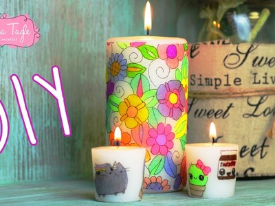 DIY. Haz Velas con Sharpies y servilletas