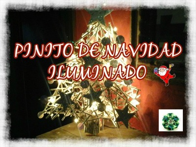 DIY Pinito de Navidad con palitos Iluminado. Los Hobbies de Yola