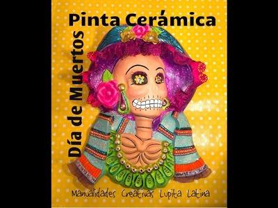 DIY Pinta Cerámica Catrina  Día de Muertos  Ceramic painting halloween