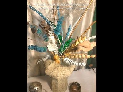 Follaje decorativo para jarrones. DIY. How to make decorations for vases