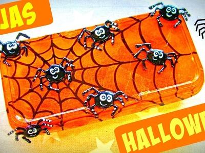 Manualidades para Halloween, Cajas para dulces decoradas con arañas.