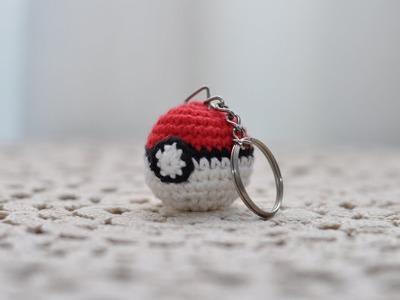 Pokeball Llavero, Amigurumi, crochet