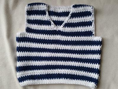 Tejer un chaleco de bebés - parte delantera en crochet - parte 2.4 by BerlinCrochet