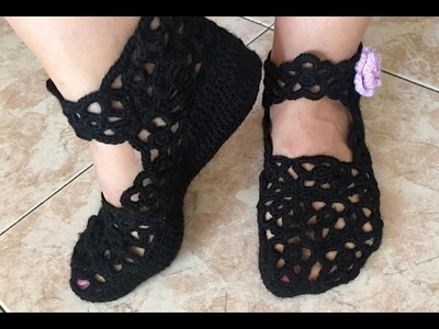 Tutorial Zapatillas - HOME Tejidas a Crochet Paso a paso