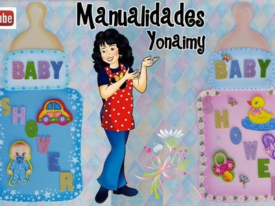 ADORNOS DE BABY SHOWER PARA PAREDES O PUERTAS .  DIY