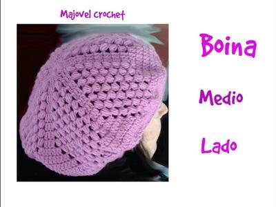 Boina o gorra caida a crochet 1ª parte