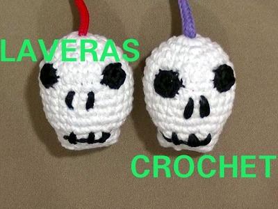 Como hacer una Calavera halloween en tejido crochet o ganchillo tutorial paso a paso.
