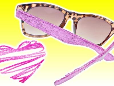 DIY Como Hacer Unas Gafas Llenas de Brillos