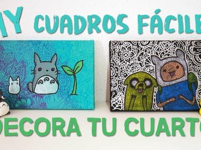 DIY decora tu habitación - Cuadros fáciles de Totoro y Hora de Aventuras