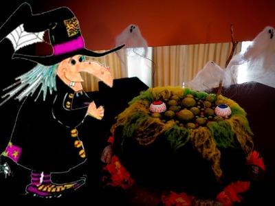 DIY Decoración Halloween. Caldero de bruja - Fantasmas.