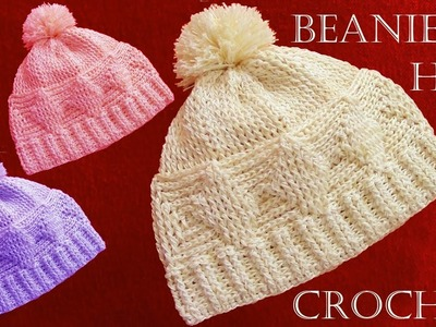 Gorro boína básico a crochet - learn Knitting How to crochet