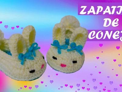 Zapatos de conejo tejidos a crochet  | PASO A PASO