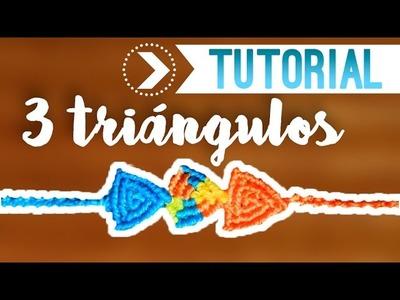 3 Triángulos. ♥︎ Pulsera de macramé fácil | DIY | Paso a paso