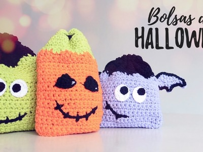 Bolsas.Mochilas de HALLOWEEN a crochet | Ahuyama Crochet
