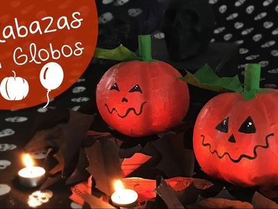 Calabazas con Globos :: Halloween diy :: Decoración de Halloween