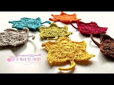 Como hacer hojas de Otoño al crochet