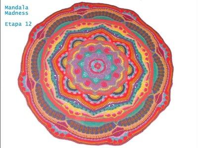 Crochet español Mandala Madness Etapa 12