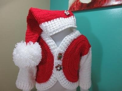 Crochet gorro papa noel de bebé para principiantes
