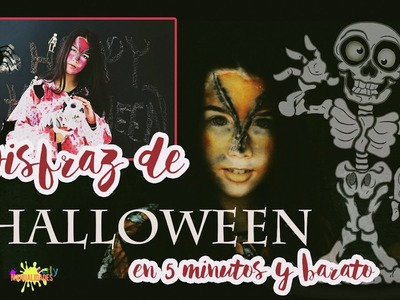 DIY: Disfraz halloween en 5 minutos y muy barato