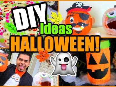 DIY: IDEAS SUPER DIVERTIDAS Y FACILES PARA ESTE HALLOWEEN!! | Nel Pastel Tv