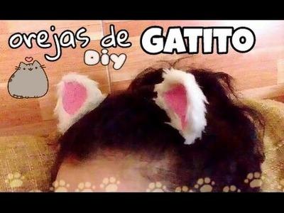 Diy Orejas de gatito =^_^= ♻disfraz halloween