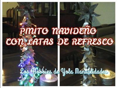 DIY Pinito Navideño con latas. Los Hobbies de Yola