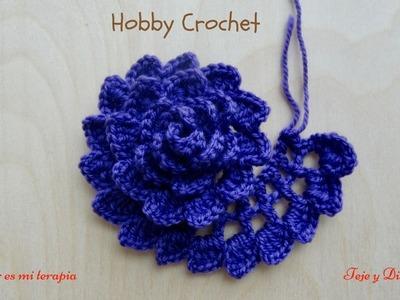 Flor a crochet Nº 6