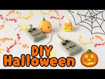 Manualidades Kawaii Fáciles!. Aretes Para Halloween. Manualidades Para Día de Muertos
