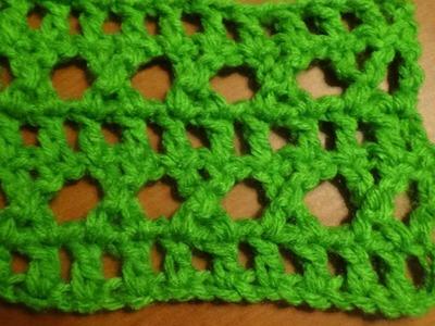 Puntada a crochet muy fácil, calada. Muestra No. 85