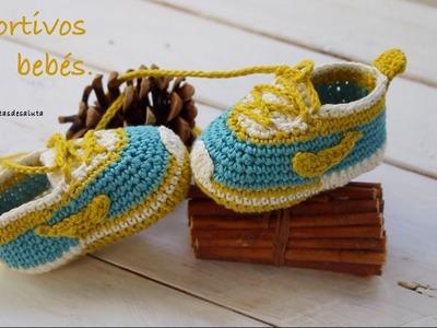 Aprende a tejer estos deportivos de bebé paso a paso I PARTE 1.2 (ENGLISH SUB ) cucaditasdesaluta