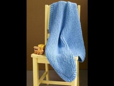 Cobija de bebe tejido dos agujas
