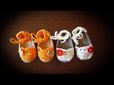 Como hacer alpargatas o esparteñas  de bebe en crochet paso a paso (PARTE 1)