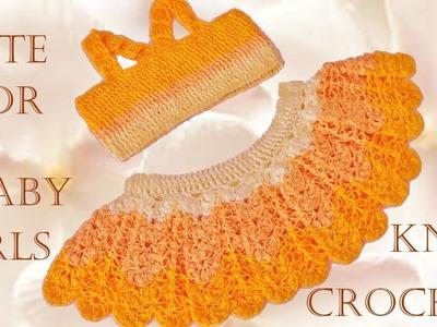 Como tejer fácil la mas linda ropa para niñas y bebes - Make crochet cute Knit for baby girls