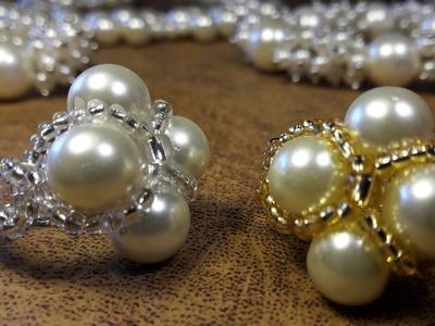 Elegante Anillo de 4 perlas. .Clase #15!!!