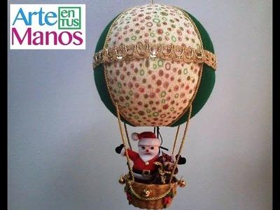Globo Navideño con Santa Paso a Paso