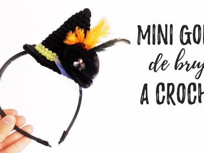 Mini GORRO DE BRUJA a crochet | Ahuyama Crochet