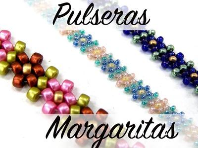 Pulsera Margaritas con Rocallas