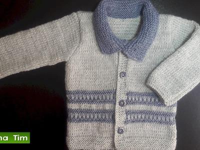 Saquito, chaqueta (jersey) para bebes. Tejido con dos agujas # 471
