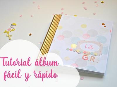 Tutorial mini álbum scrapbook súper fácil y rápido para pocas fotos por pasos | Scrapeando con Rocío