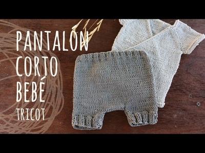 Tutorial Pantalón Bebé Tricot | Dos Agujas (Conjunto Kimono)