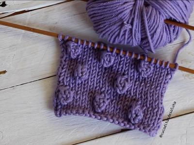 Aprende a tejer el Punto Popcorn o bodoque a tricot I cucaditasdesaluta