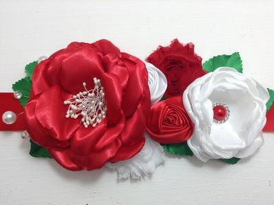 Cintillo de flores en colores  mexicanos VIDEO No. 355