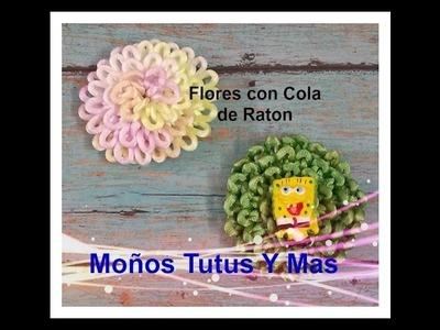 Como Hacer FLORES CON COLA DE RATON Paso a Paso RATTAIL CORD FLOWERS Tutorial DIY How To PAP