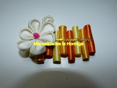 Como hacer moños rollitos de cinta, faciles ideas para tus accesorios del cabello
